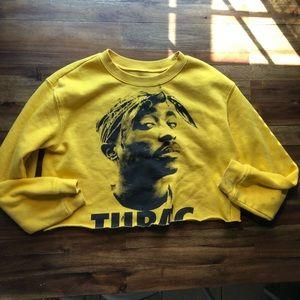 Cropped TuPac sweater